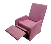 The College Recliner - Baby Pink College Dorm Chair