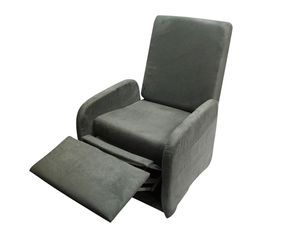 The College Recliner Folds Compact Charcoal Gray