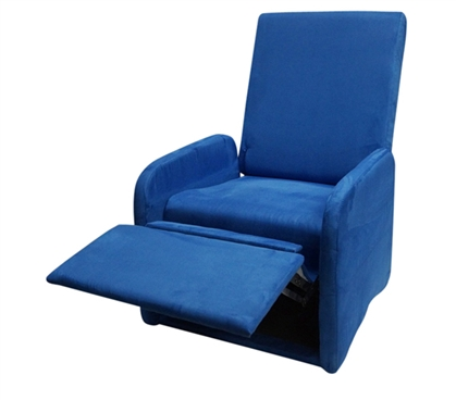 The College Recliner Real Blue Soft Dorm Seating