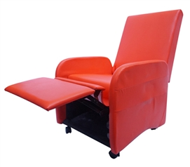The College Recliner (Folds Compact) - Red Dorm Furniture Dorm Essentials