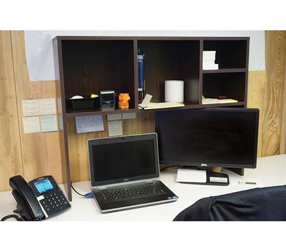 The College Cube Dorm Desk Bookshelf Dark Wood Dorm