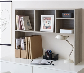 The College Cube - Dorm Desk Bookshelf - Natural