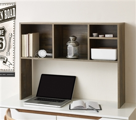 The College Cube - Dorm Desk Bookshelf - Rustic