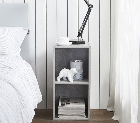 the college cube - dorm nightstand - marble gray Gray Night Stand