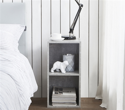 The College Cube - Dorm Nightstand - Marble Gray