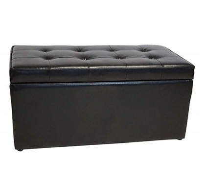 The Dorm Bench - Storage Seating - Black Dorm Room Seating