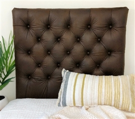 Faux Leather Brandy Tufted College Headboard