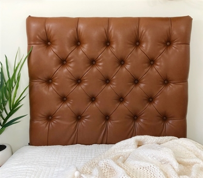 Faux Leather Copper Tufted College Headboard