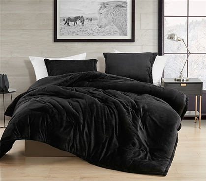 Coma Inducer Twin XL Comforter - Touchy Feely - Black