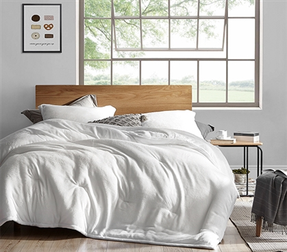 Coma Inducer Twin XL Comforter - Touchy Feely - White
