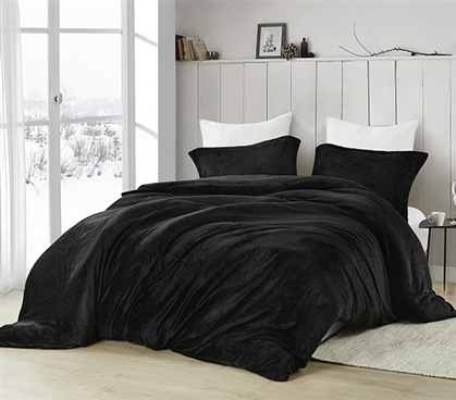 Coma Inducer Twin XL Duvet Cover - Touchy Feely - Black