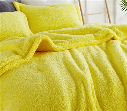 Coma Inducer Twin XL Comforter - The Napper - Limelight Yellow