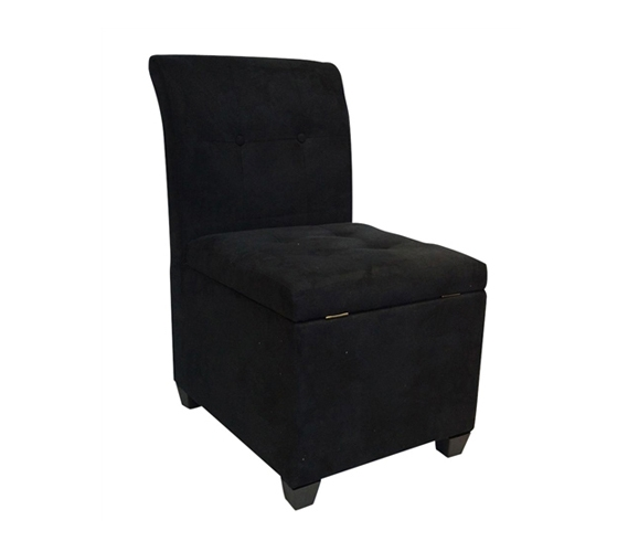 Surprising The Original Ottoman Chair 2 In 1 Storage Seat Black Andrewgaddart Wooden Chair Designs For Living Room Andrewgaddartcom