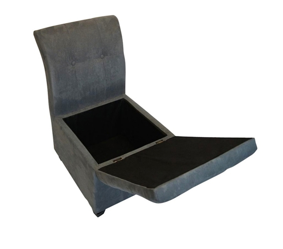 sc 1 st  Dorm Co & The Original Ottoman Chair (2 in 1 Storage Seat) - Smoke Gray