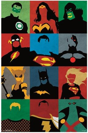 Justice League Minimalist Poster Dorm Room Products Wall