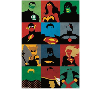 Cheap College Items - Justice League - Minimalist Poster - Decorate Your Dorm