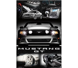 Cool Car Posters - Mustang - 2014 GT Collage Poster - Buy Posters Online