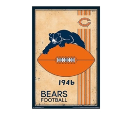 Buy Fun Dorm Stuff - Chicago Bears - Retro Logo 14 Poster - College Wall Decorations