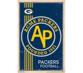Decorate Your Dorm - Green Bay Packers - Retro Logo 14 Poster - Posters For Dorms