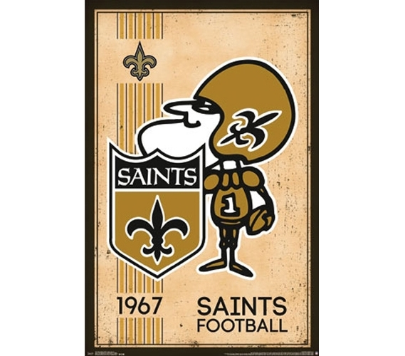 New Orleans Saints - Retro Poster Dorm Room Posters College ...