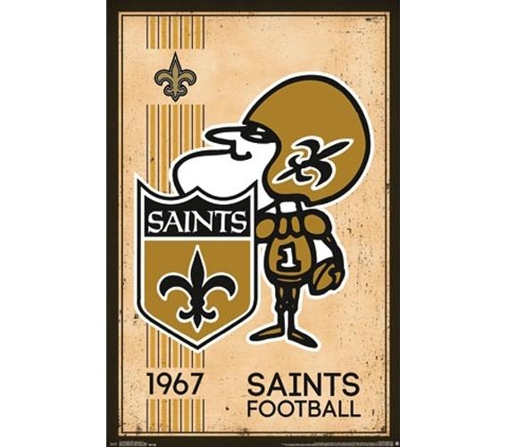 New Orleans Saints Retro Poster Dorm