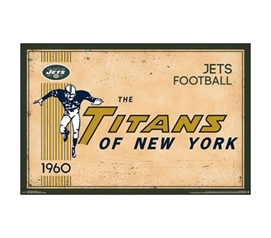 New York Jets (Titans) Throwback 1960 Logo Poster - Dorm Decor