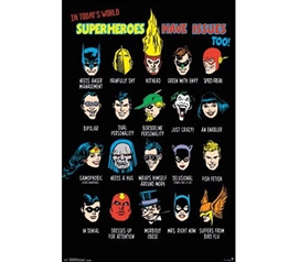 Wall Decor For College - DC Comics - Issues Poster - Decor For Your Dorm