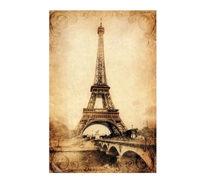 Shop For College - Eiffel Tower – Rustic Poster - Items For College Students