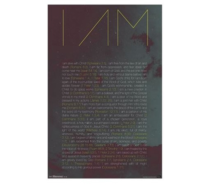 Best Dorm Supplies - I Am Poster - Wall Decor For College