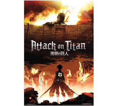 Attack on Titan - Fire Poster