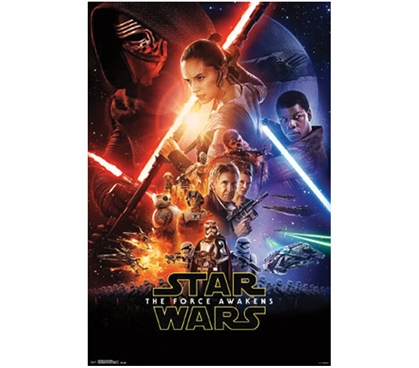 Star Wars The Force Awakens Movie College Poster Dorm Room Decor Dorm Room Decorations Must Have Dorm Items