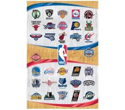 Fun Supplies For College - NBA Logos - 2013 Poster - Decorate Your Dorm