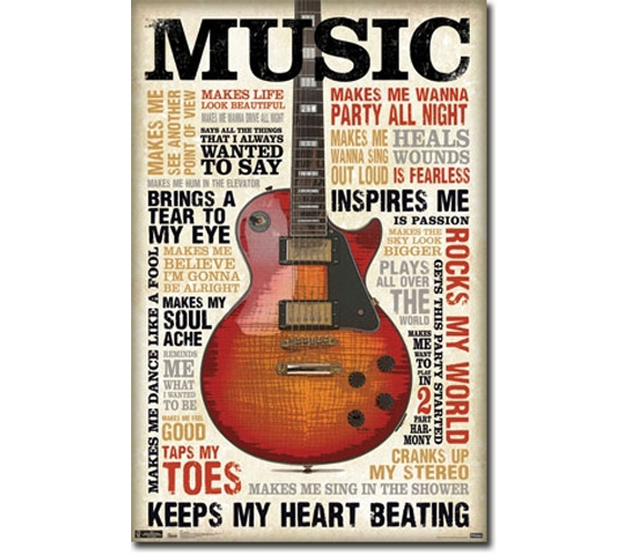 Music Inspires Me Poster College Products Dorm Items
