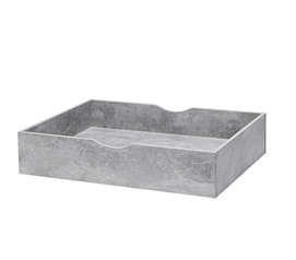 The Essential Storage MAX Underbed Dorm Room Storage Unique Marble Gray College Wooden Organizer With Wheels