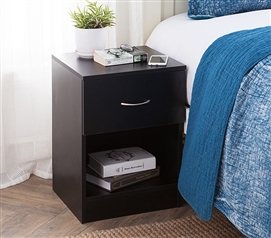 The Yak About It Standard Nightstand   Black