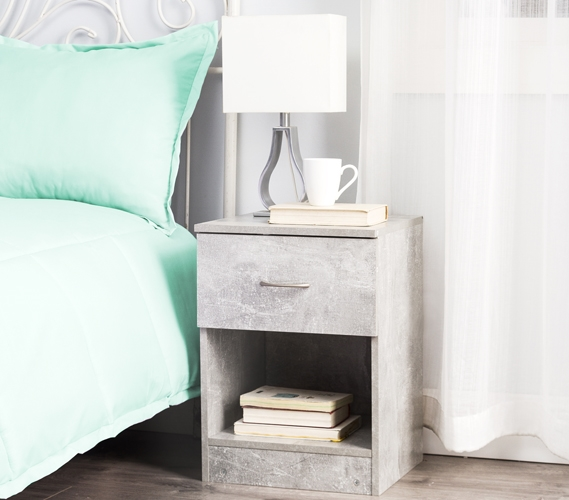 Standard Nightstand Marble Gray