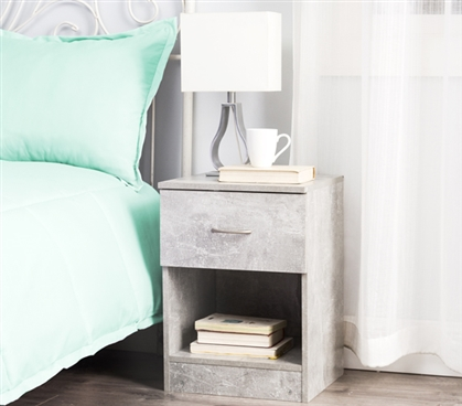 The Yak About It Standard Nightstand - Marble Gray