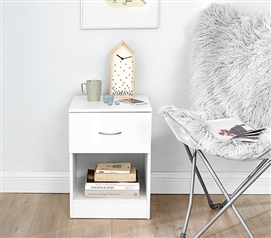 The Yak About It Standard Nightstand - White