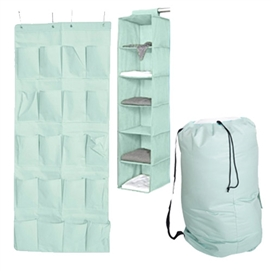 TUSK 3-Piece College Closet Pack - Calm Mint (Over Door Shoe Version) Dorm Storage Solutions Must Have Dorm Items