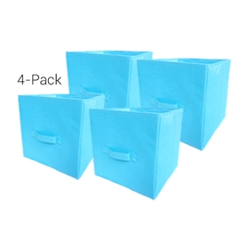 TUSK® Fold Up Cube 4-Pack - Aqua Dorm Storage Solutions Dorm Room Storage