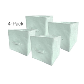 TUSK Fold Up Cube 4-Pack - Calm Mint Dorm Essentials College Supplies