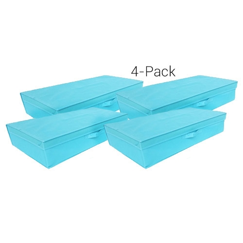 Tusk Underbed Folding Box 4 Pack Aqua