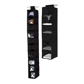 TUSK® 2-Piece College Closet Set - Black Dorm Essentials Dorm Necessities