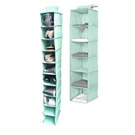 TUSK® 2-Piece College Closet Set - Calm Mint Dorm Storage Solutions Must Have Dorm Items Dorm Necessities