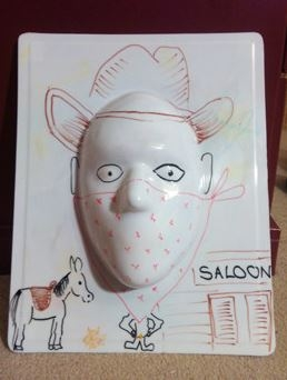 3d Dry Erase Face Board Draw A Face