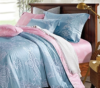 Dorm Bedding for Girls Solitude Twin Extra Long Dorm Bedding