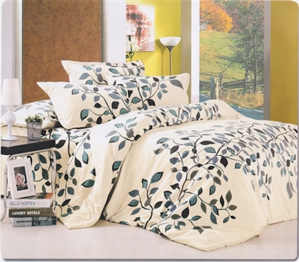 Forever Vines Twin XL Designer Dorm Bedding For Girls College Dorm Rooms