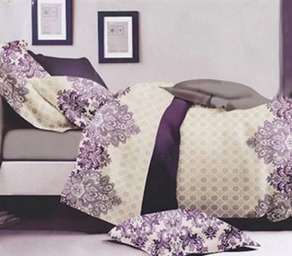 Designer Comforter Set Demure Twin XL Dorm Comforter Girls Dorm Bedding