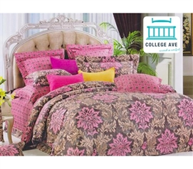 Twin Extra Long Comforter Orchard Pink Dorm Room Bedding
