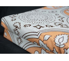 Mandala Peach XL Twin Dorm Sheets Dorm Bedding for Girls